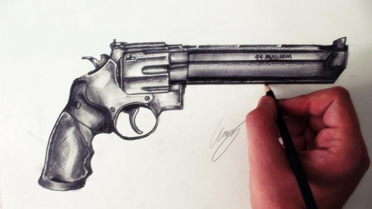 1280x720 Desenhando Um Revolver 44 Magnum [Smith And Wesson 629