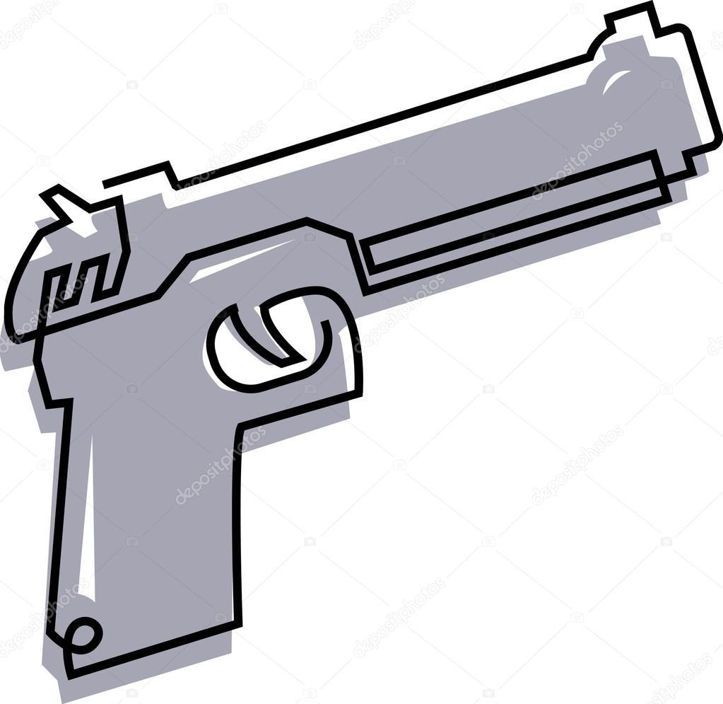1023x995 Drawing Of A Handgun Stock Photo Sparkstudio