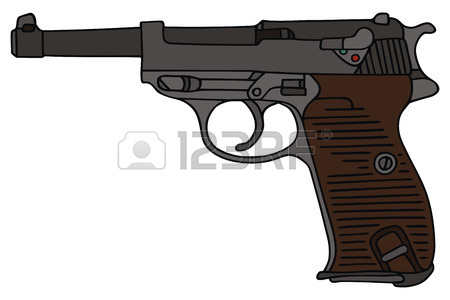 450x300 Hand Drawing Of A Handgun Royalty Free Cliparts, Vectors,