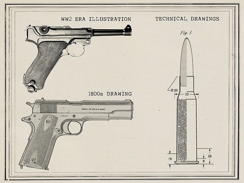 800x600 Legendary Firearms Artistic Prints Of Classic Guns