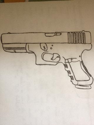 320x427 Handgun Drawings On Paigeeworld. Pictures Of Handgun