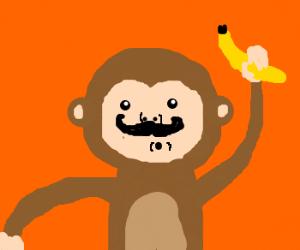 300x250 Monkey With A Handlebar Moustache