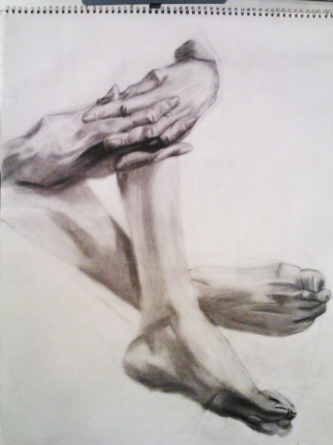 480x640 Hands And Feet Figure Drawing By Jedibandicoot