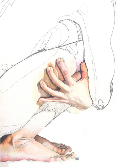 570x713 Print Colored Pencil Drawing Realism Hands And Feet