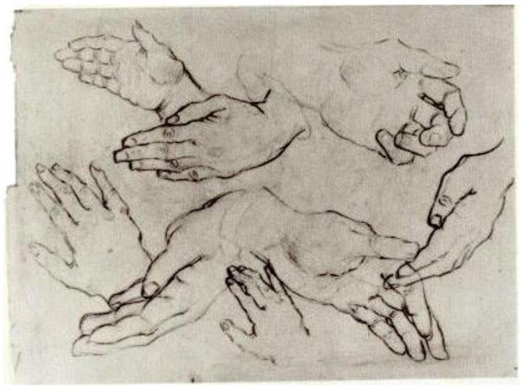 750x558 Hands By Vincent Van Gogh