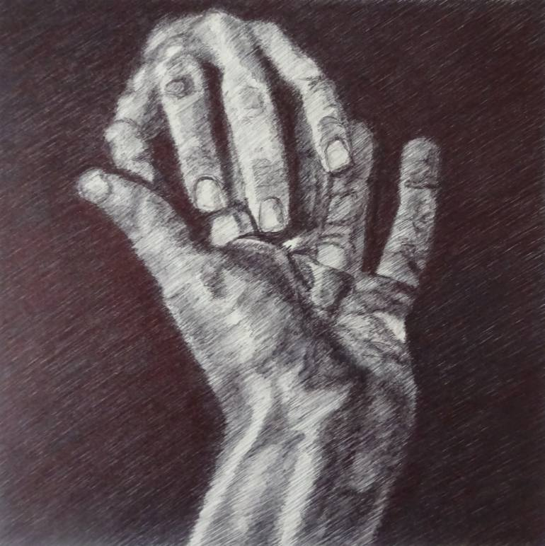 770x772 Saatchi Art Reaching Hands Drawing By Ap P Art A Passion For Pen Art