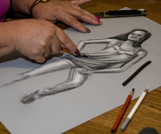 520x432 Drawing Hands For An Exercise Feltmagnet