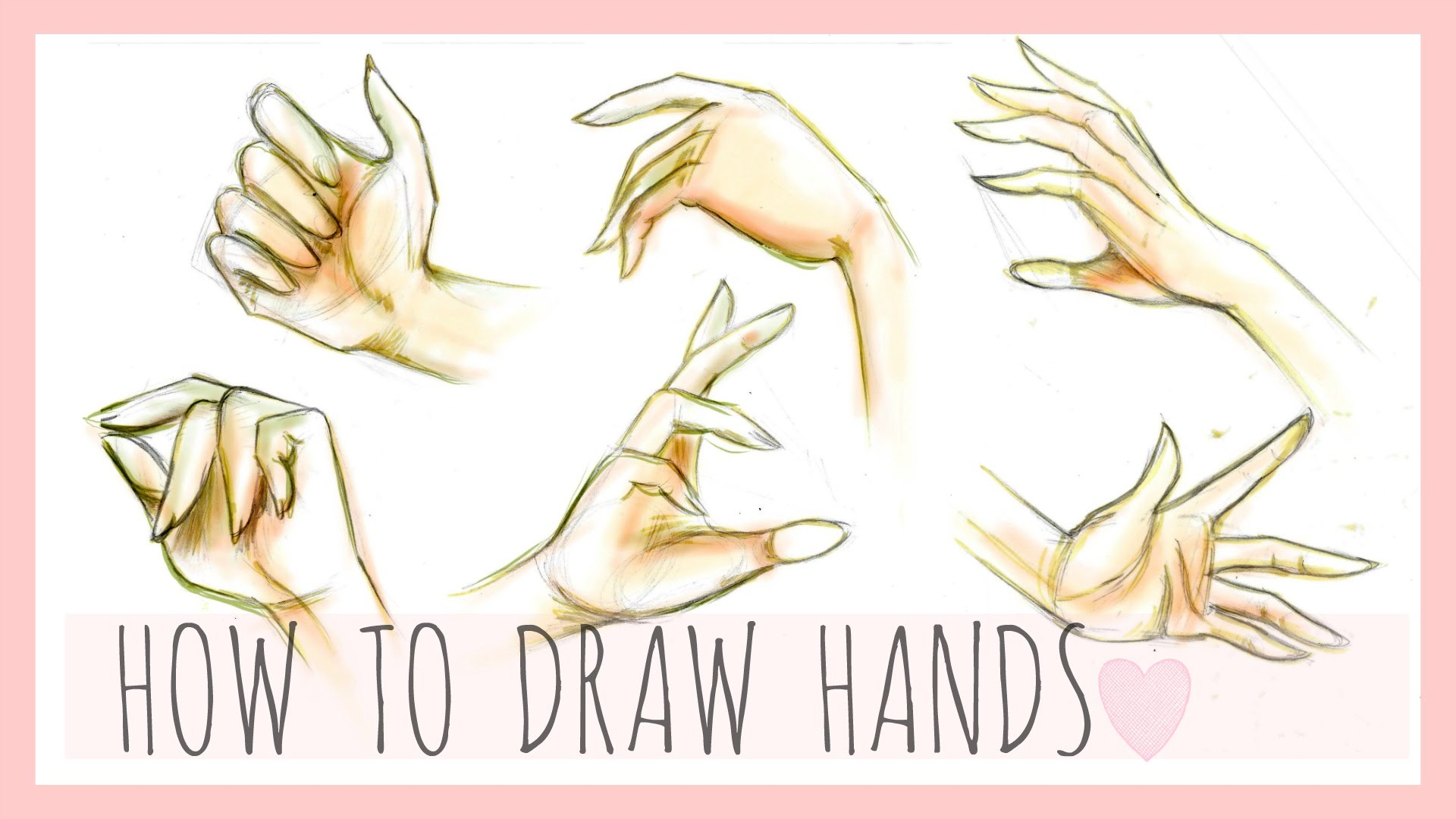 1920x1080 Drawing Tutorial How To Draw Hands