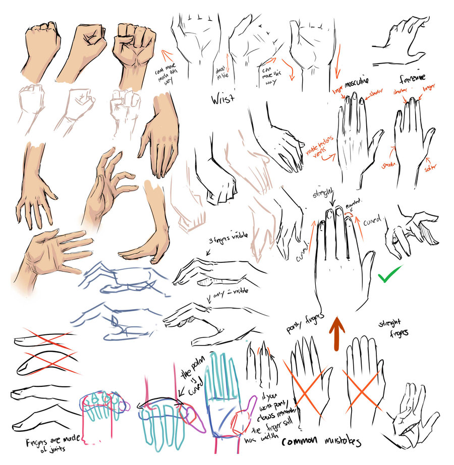 900x922 Drawing Hands And Tips  By Moni158