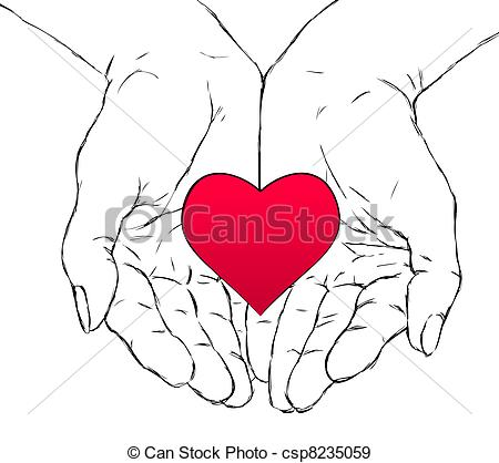 450x418 Hands And Heart. Female Hands Holding Red Heart Eps Vectors