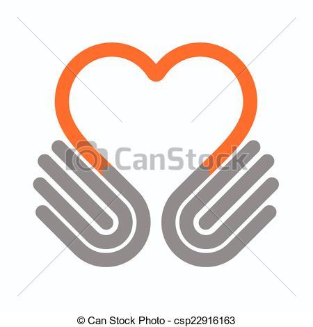 450x470 Hands Heart, Vector Clip Art Vector