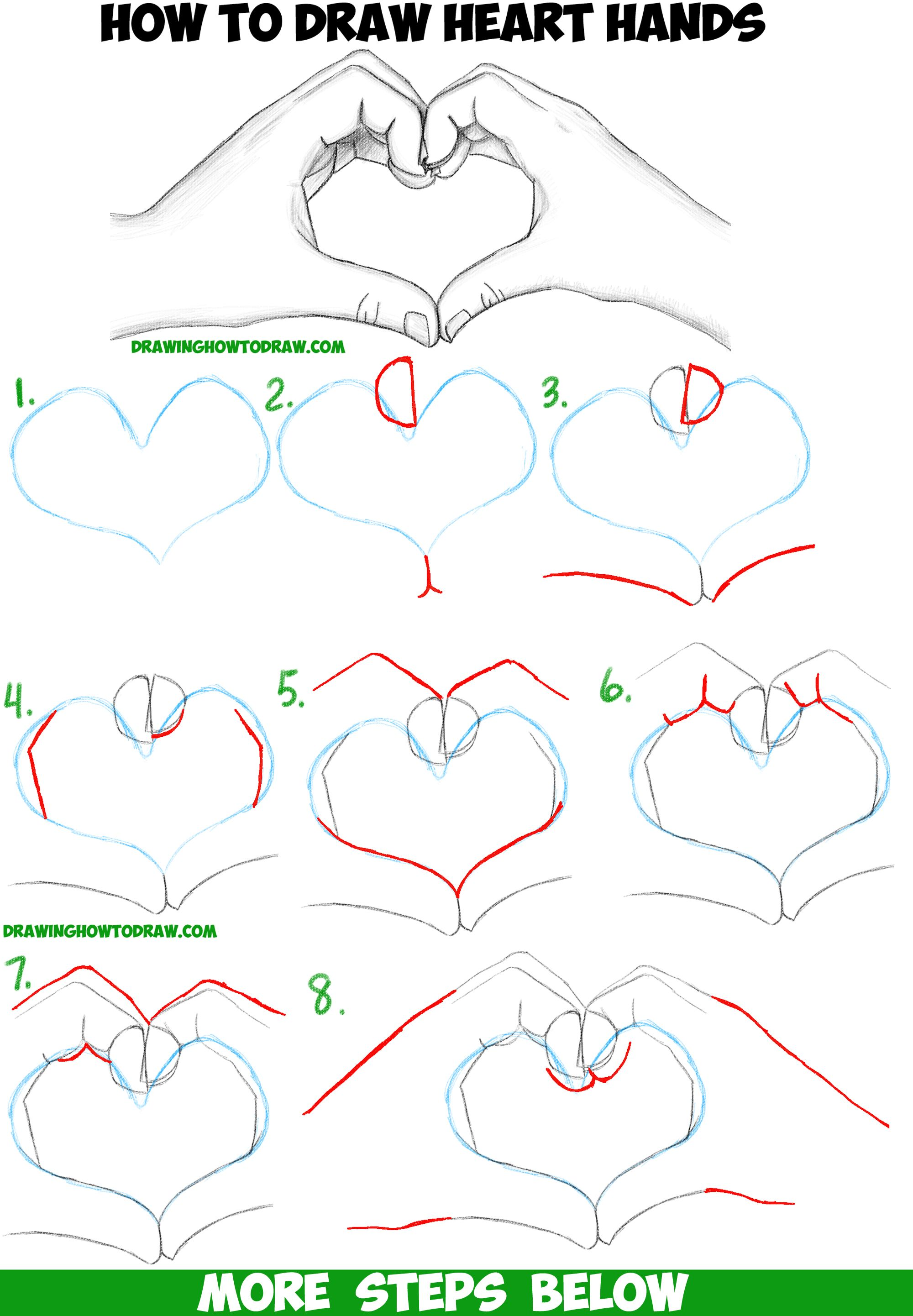 2000x2883 How To Draw Heart Hands In Easy To Follow Step By Step Drawing