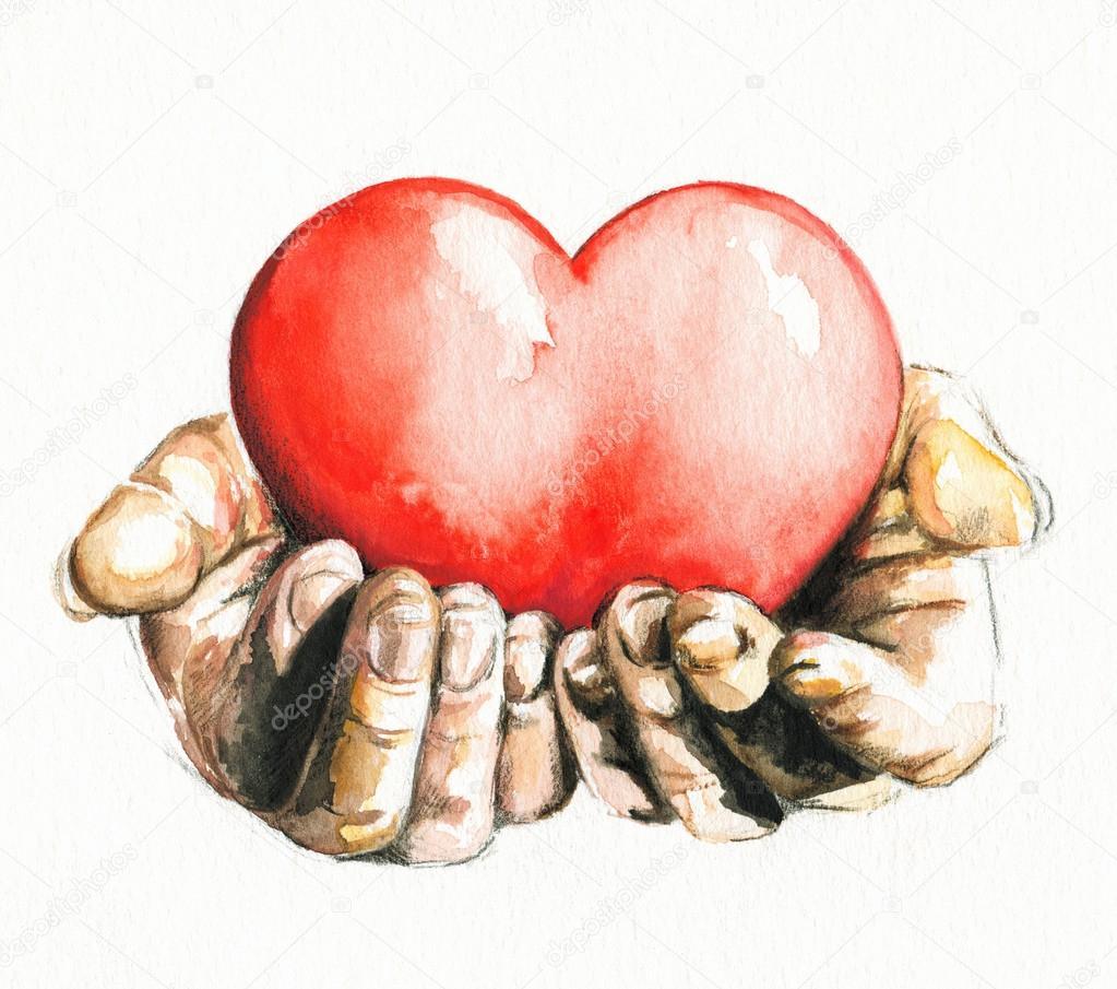 1023x905 Hands Holding Heart. Stock Photo Deepgreen
