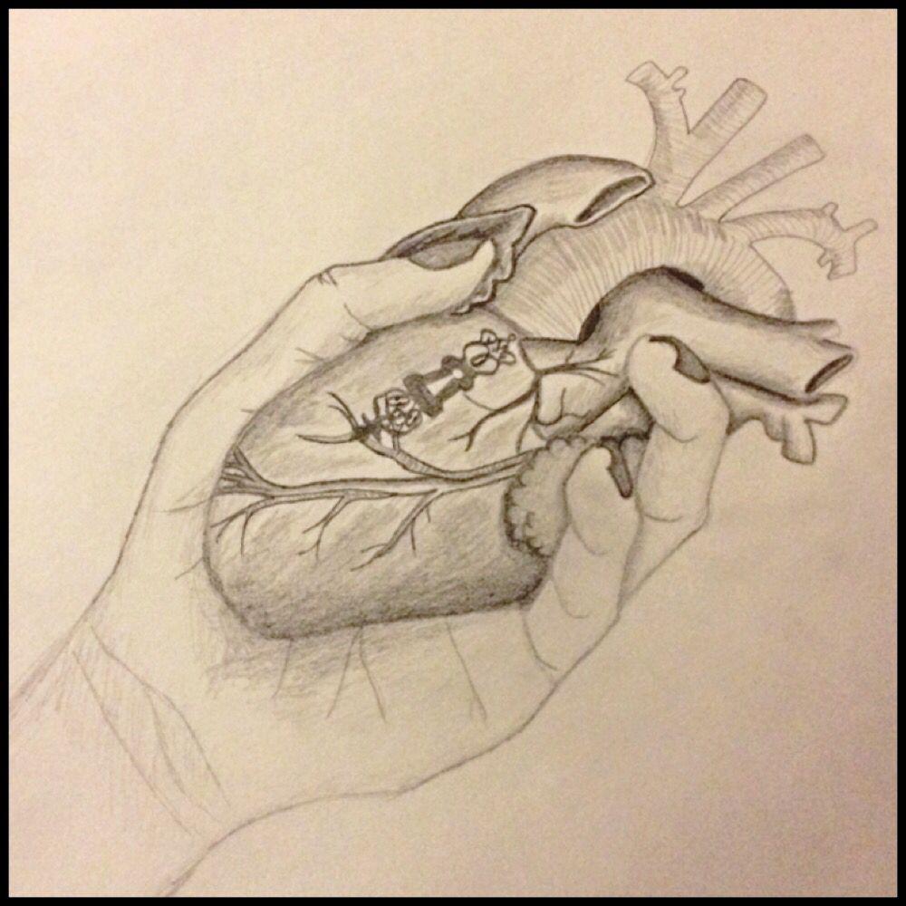 1000x1000 Heart In Hand. Hand Holding Heart. Secret Key Hole Lock. Sketch