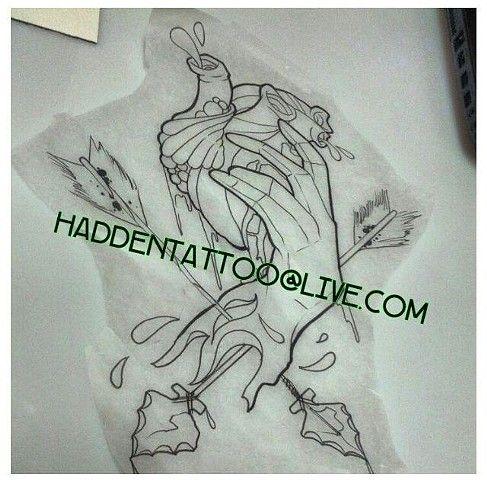 487x480 Hands Holding Heart Tattoo