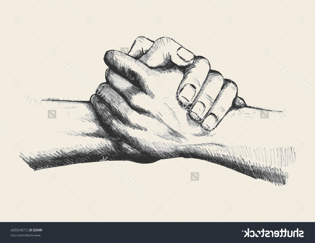 1024x791 Drawing Of Two Hands Holding Hands Drawing Each Other Sketch