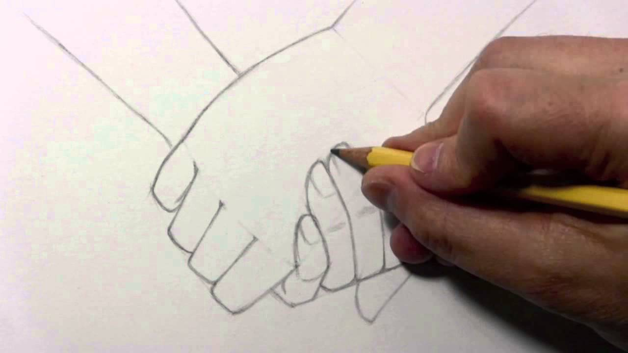 1280x720 Drawing Time Lapse Holding Hands