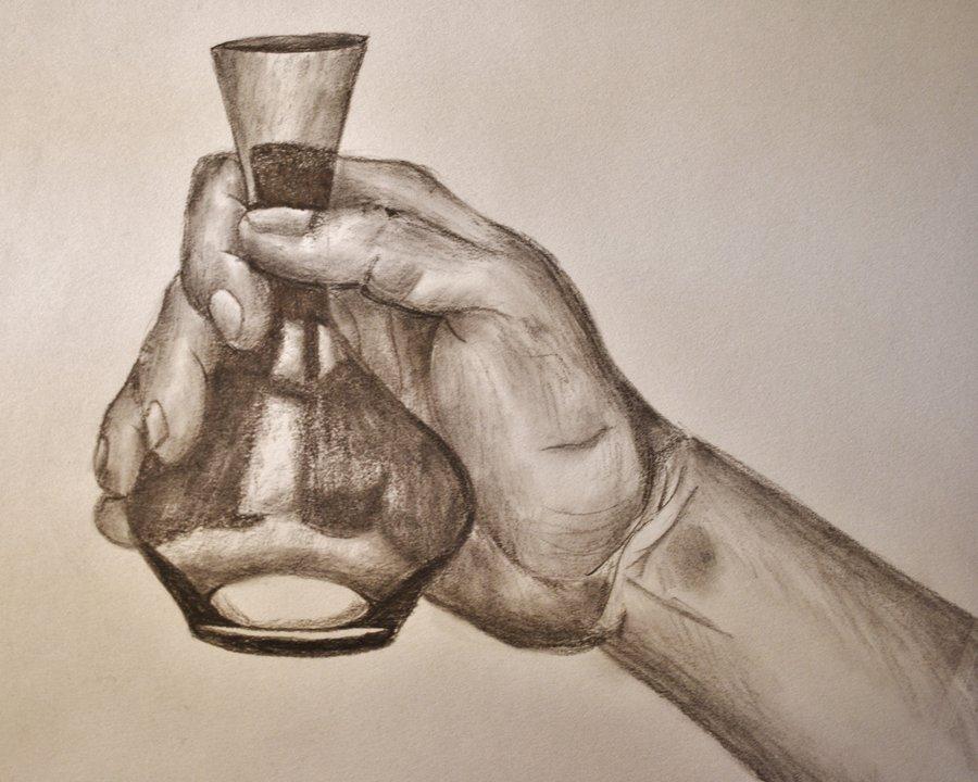 900x720 Hand Holding A Bottle By Frostygorillaz