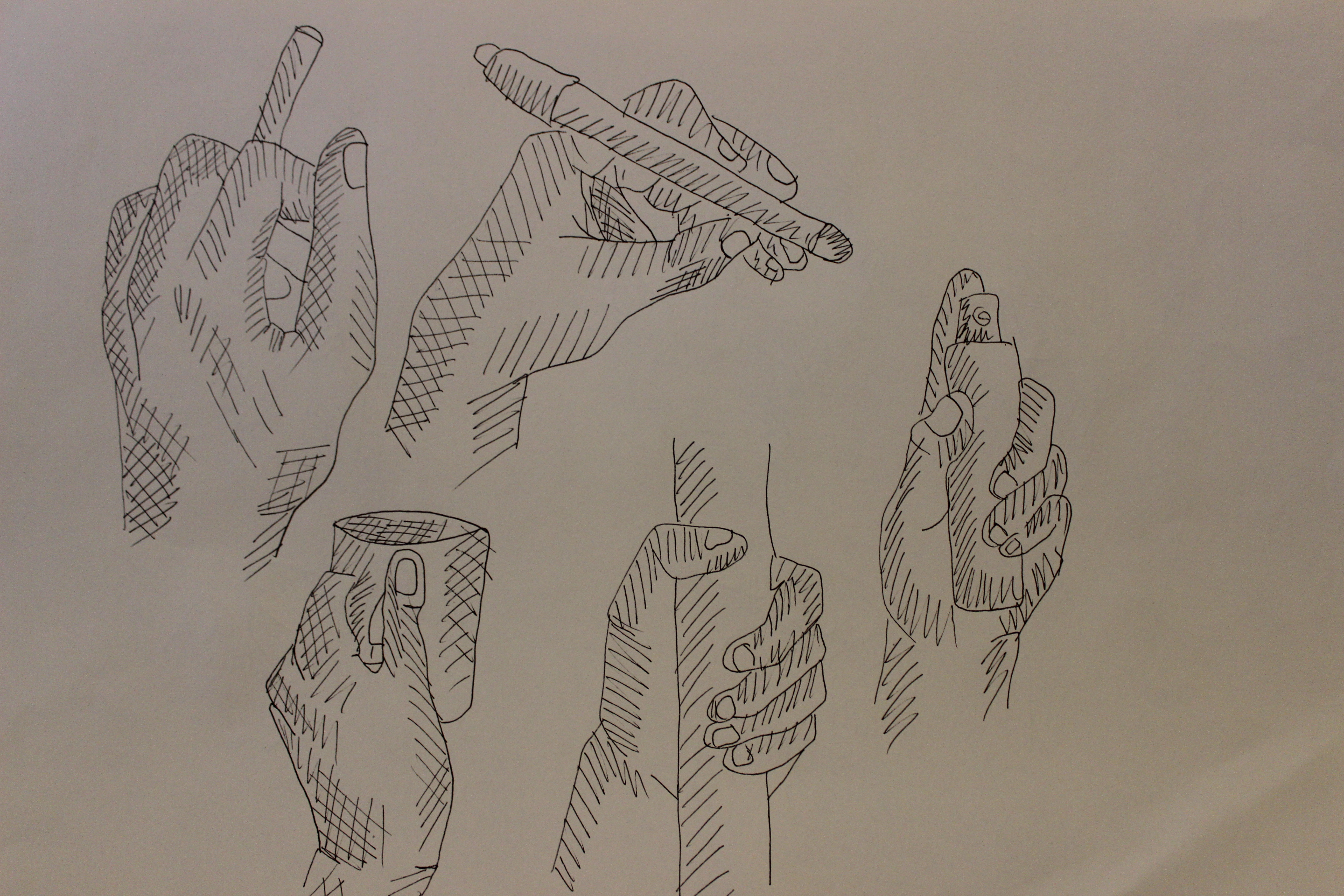 5184x3456 Sketch. Just Line, Human Body. Drawing Hands Holding Something