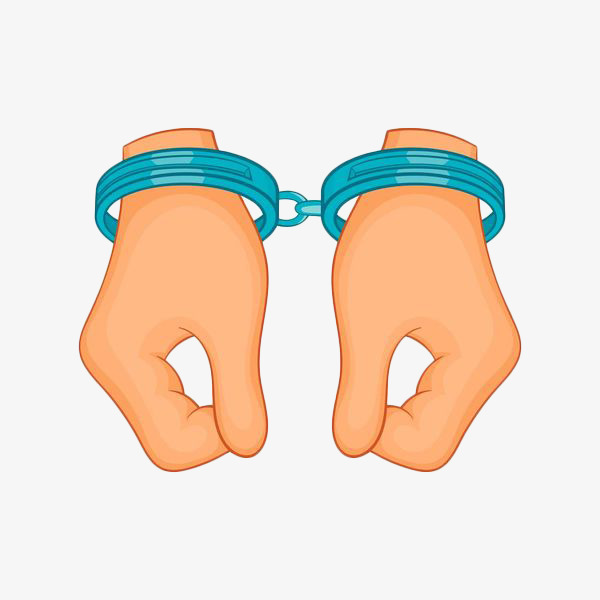 600x600 Hand Drawn And Handcuffed Hands, Handcuffs, Rule By Law, Limit Png