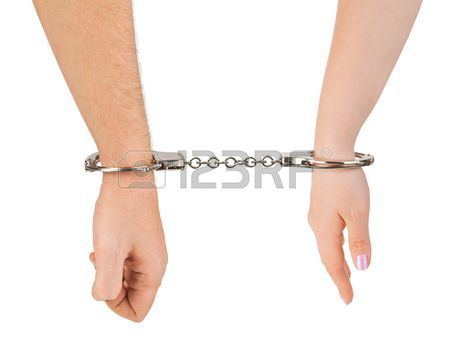 450x338 Wedding In Handcuffs Stock Photos. Royalty Free Business Images