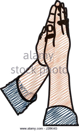 327x540 Hands Prayer Drawing Stock Photos Amp Hands Prayer Drawing Stock
