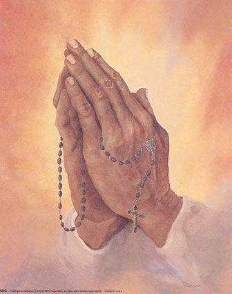 336x425 Praying Hands With Holy Rosary Drawing Art Wallpaper Free Download