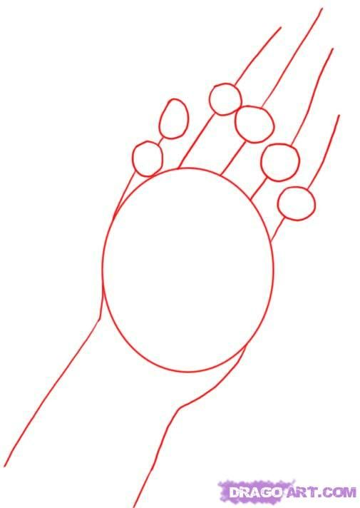 505x712 How To Draw Praying Hands Tattoo Step 9