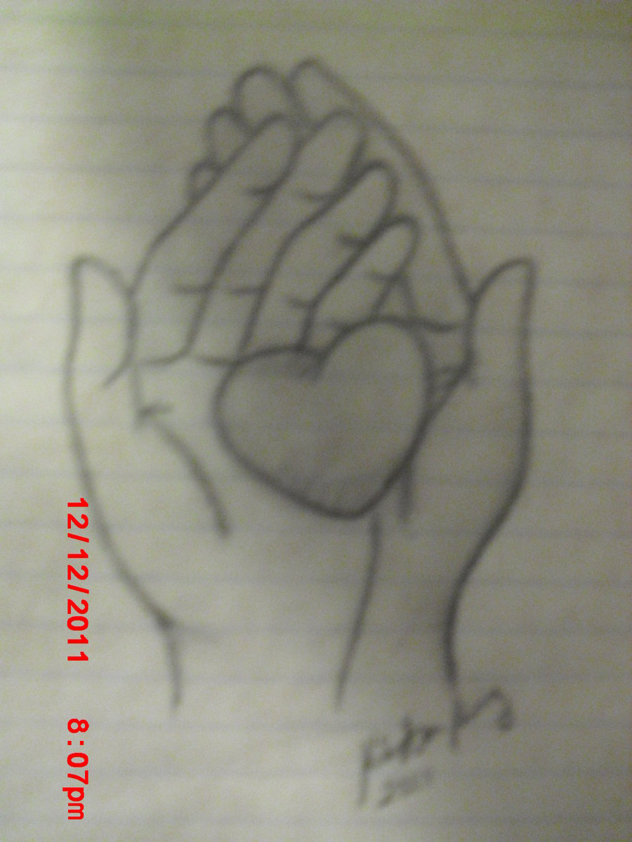 900x1200 Drawing Of A Hand Holding A Heart I Hold Your Heart In My