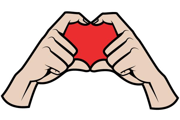 600x400 Hands Making A Heart Shape, Vectors