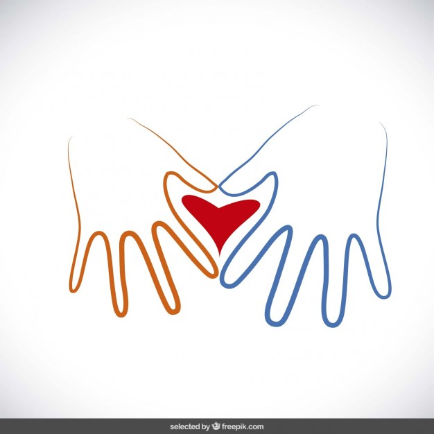 626x626 Hands Making A Heart Vector Free Download