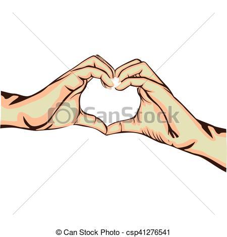 450x470 Hands Making Heart Gesture Image Vector Illustration Design Eps
