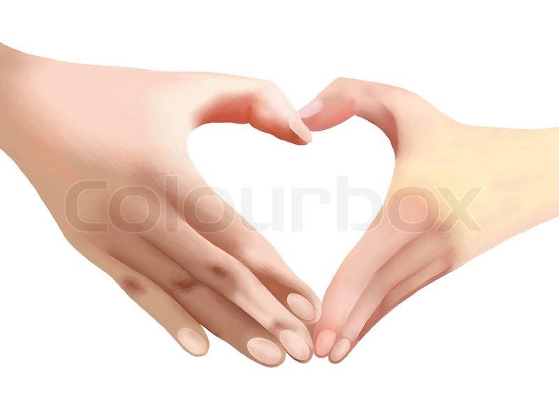 800x587 Heart Of Love, Two Hands Make Heart Shape Stock Photo Colourbox