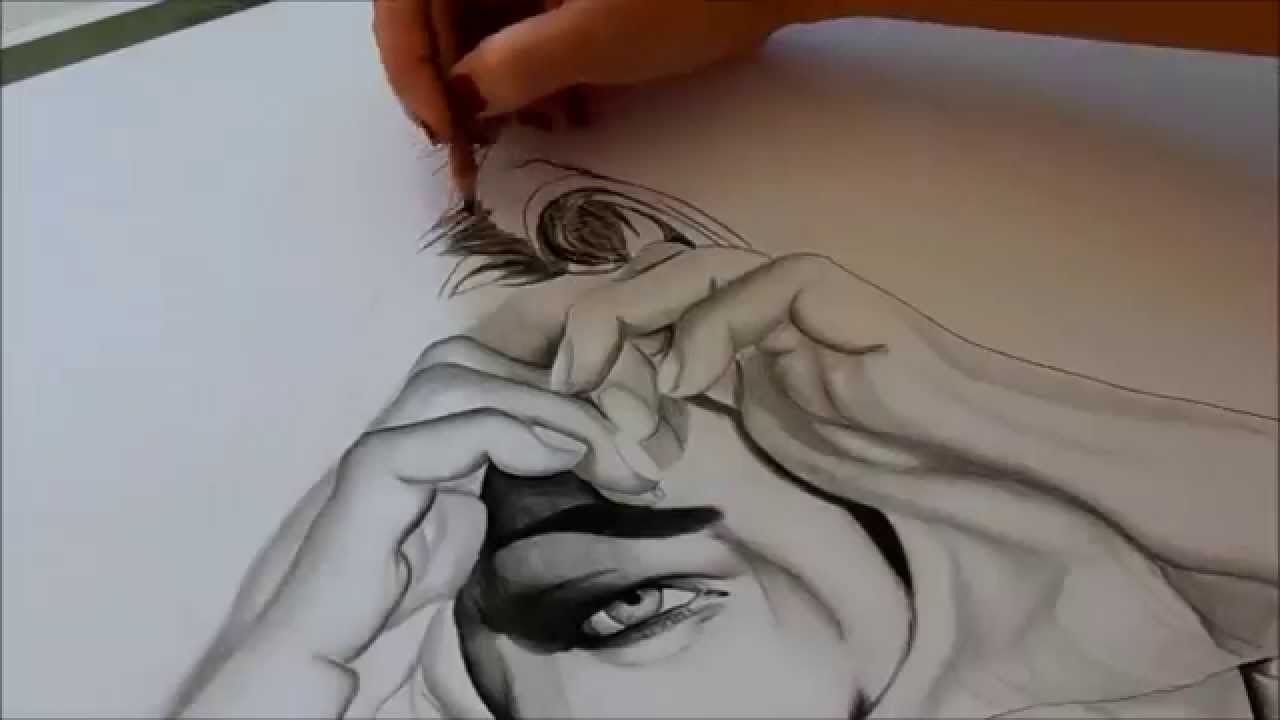 1280x720 Pencil Drawing Of Hand Holding Heart