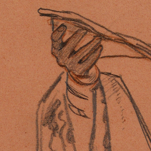 300x300 Drawing, Study For Hands Holding An Open Book With Drapery