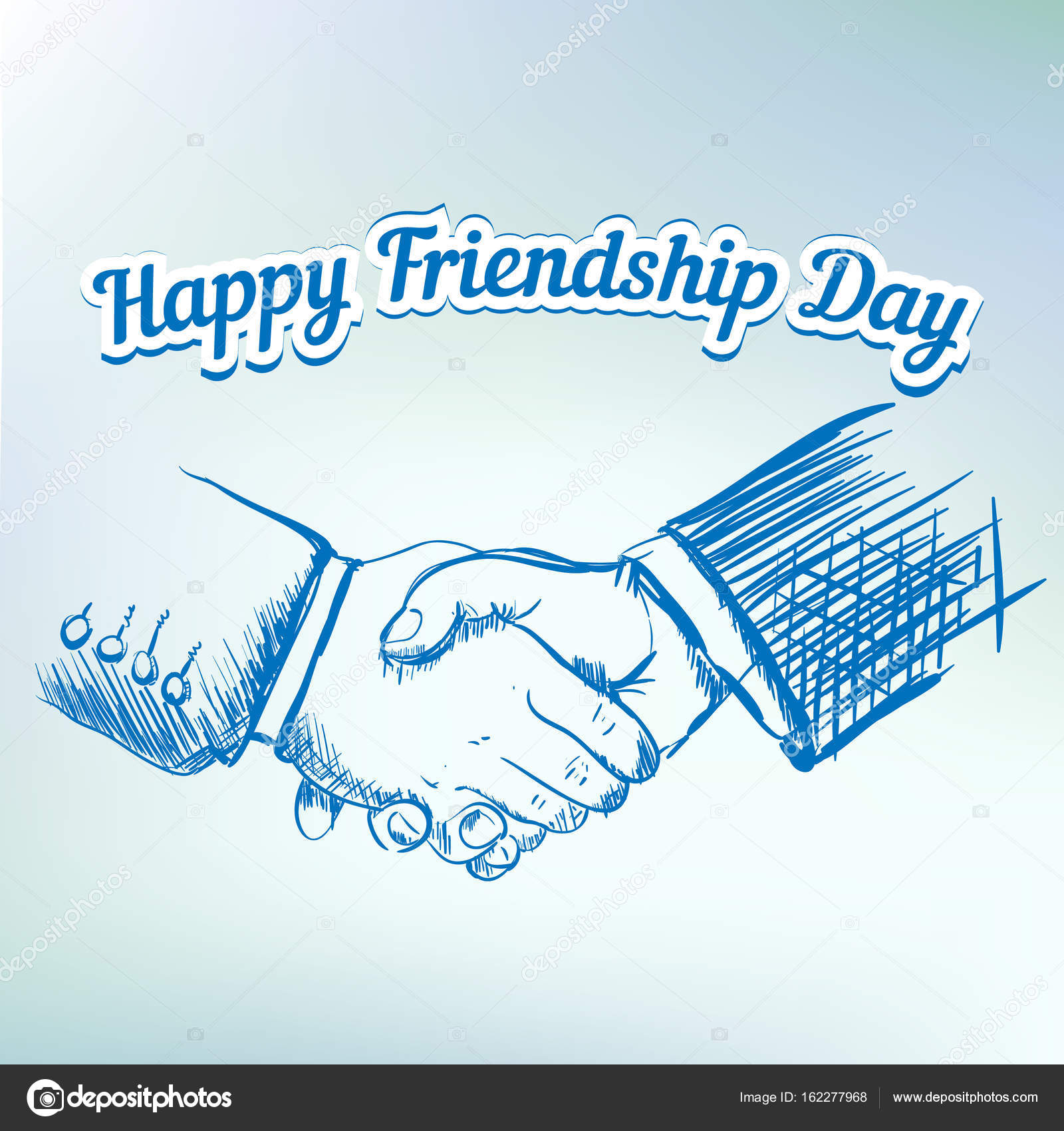 1600x1700 Hands Shaking Sketch Friendship Day Vector Illustration Stock