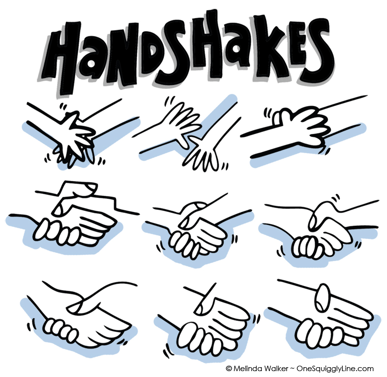 787x768 Shaking Hands Drawing Step By Step