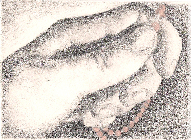 628x460 Drawings Hand With Rosary
