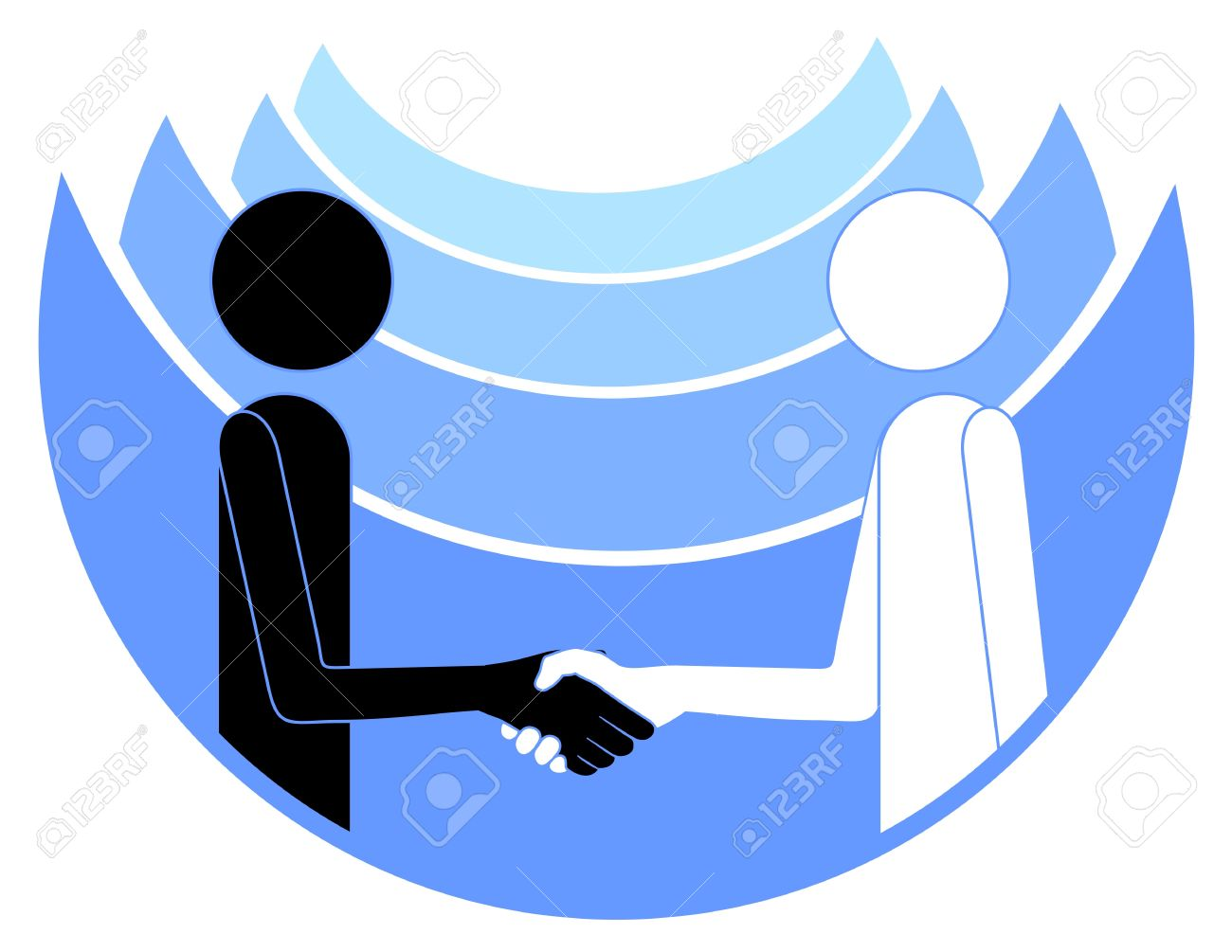 1300x1005 Abstract Drawing Of Two People Shaking Hands Royalty Free Cliparts