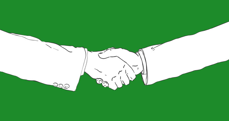 910x480 Hand Drawing 2d Animation In Stop Motion, Hand Draws A Handshake