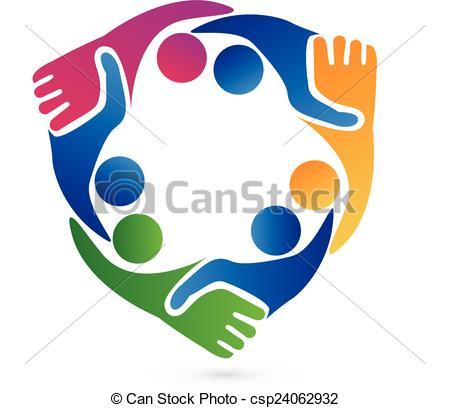 450x408 Teamwork Handshake Business Logo. Teamwork Handshake Vectors