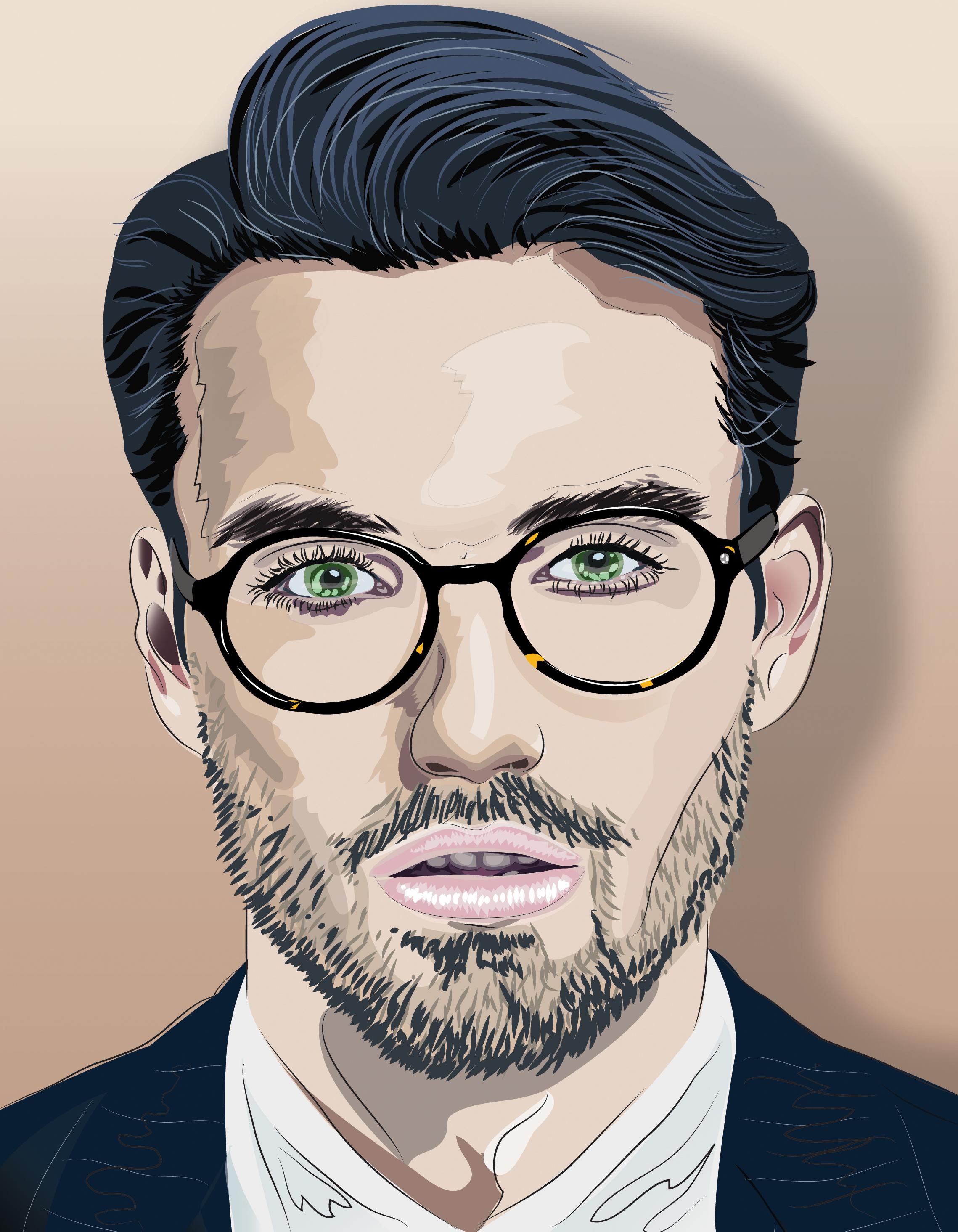 2278x2929 Handsome Man Illustrator On Behance
