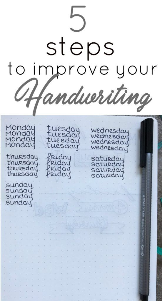 551x1024 5 Steps To Improve Your Handwriting Handwriting, Bullet Journals