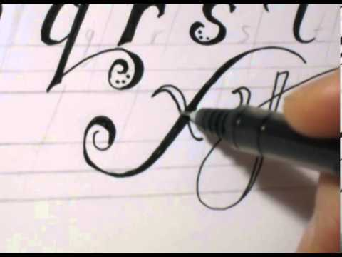 480x360 Fancy Cursive Writing