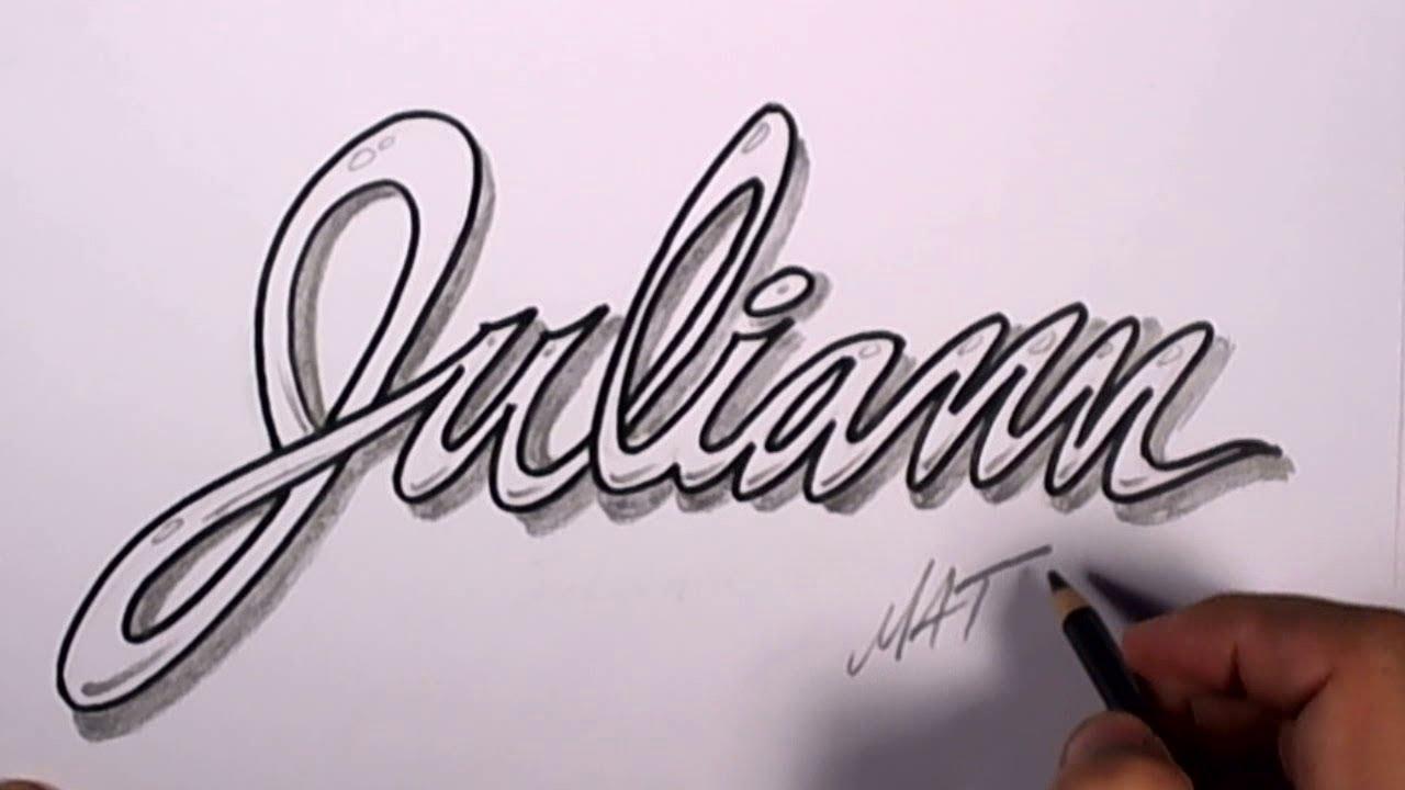 1280x720 Graffiti Writing Juliann Name Design