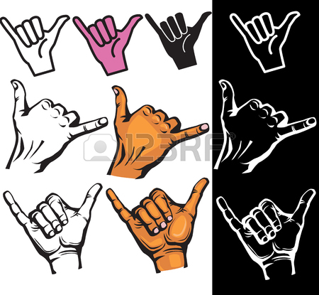 450x415 187 Hang Loose Sign Stock Vector Illustration And Royalty Free