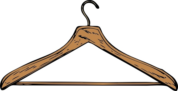 600x308 Coat Hanger Clip Art Free Vector In Open Office Drawing Svg ( Svg