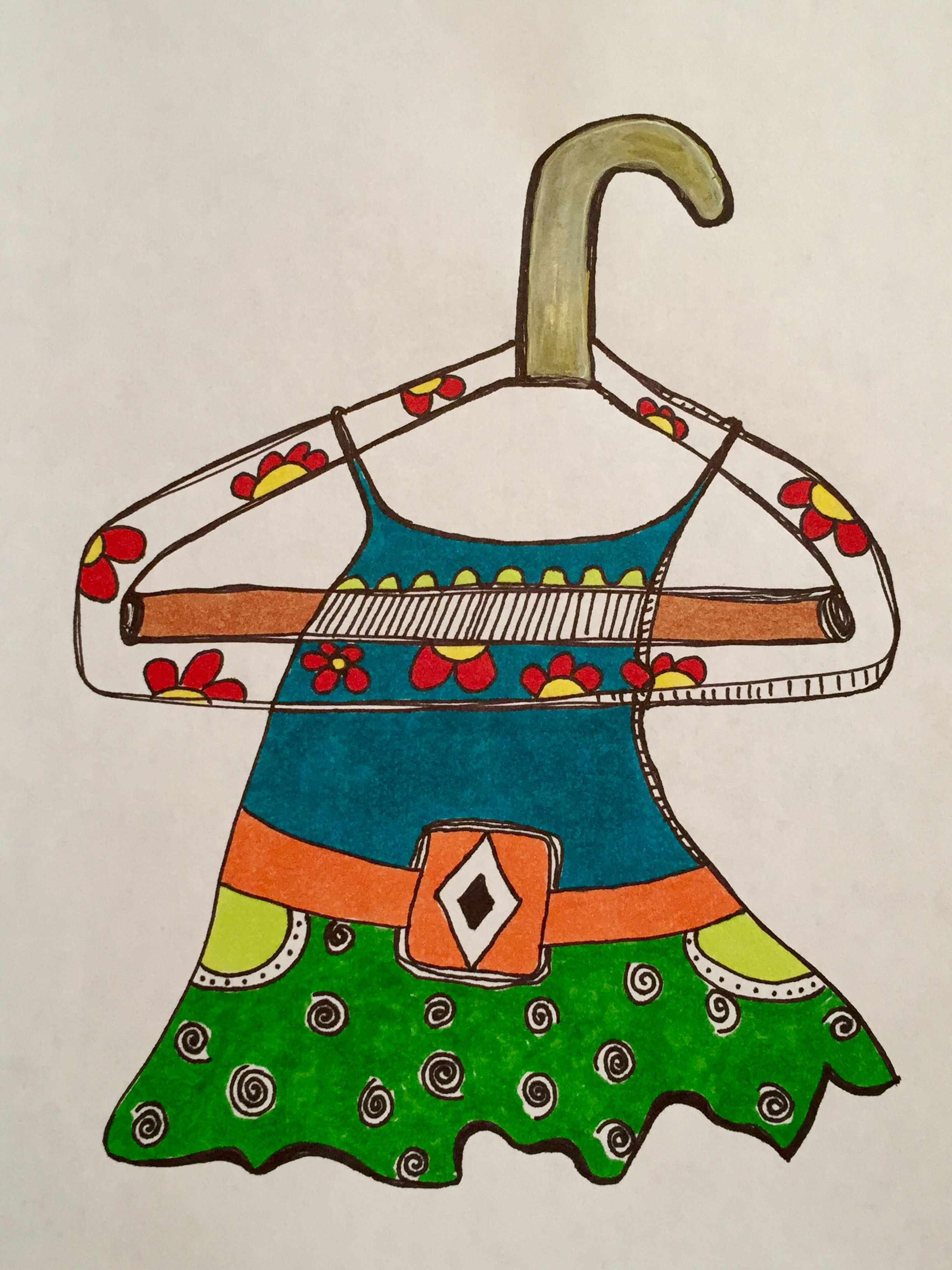 2448x3264 Dress On Hanger (Drawing) By Marisa Nisely My Art Collection