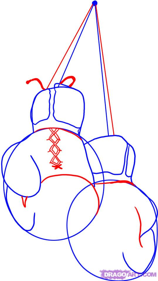 539x956 Boxing Gloves Drawings