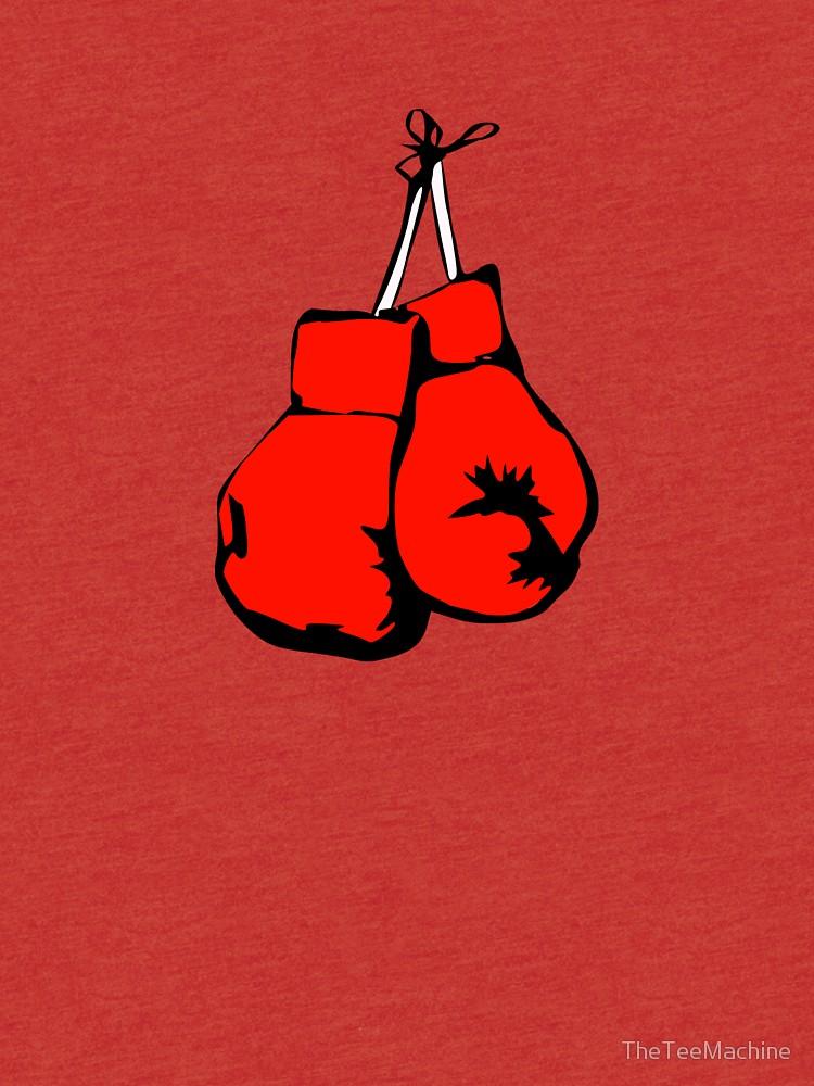 750x1000 Hanging Boxing Gloves Drawn
